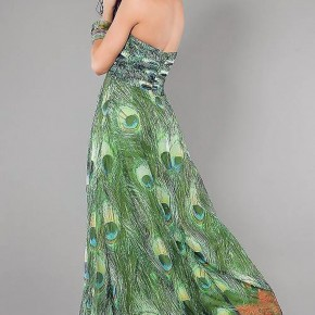 Peacock Print Prom Dress Styles Pictures