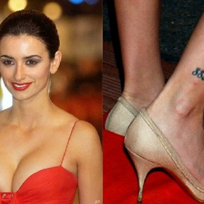 Penelope Cruz 883 Tribal Tattoo On Right Leg Pictures