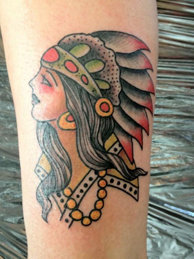 Pin Old School Indian Head Tattoo Sailor
