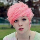 Pink Punk Pixie Hairstyle Pictures