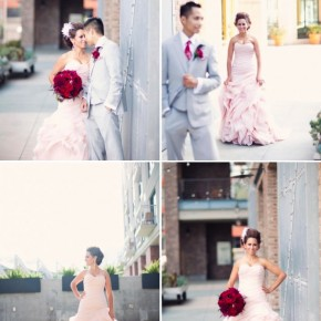 Pink Wedding Dress, And the Bride Wore Pink