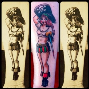 Pirate Woman Design Best Tattoo Artists Pictures