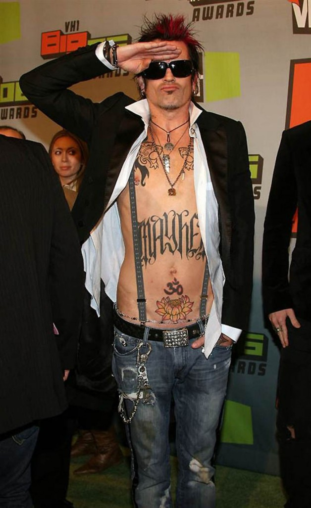 Popular Tommy Lee Celebrity Tattoos