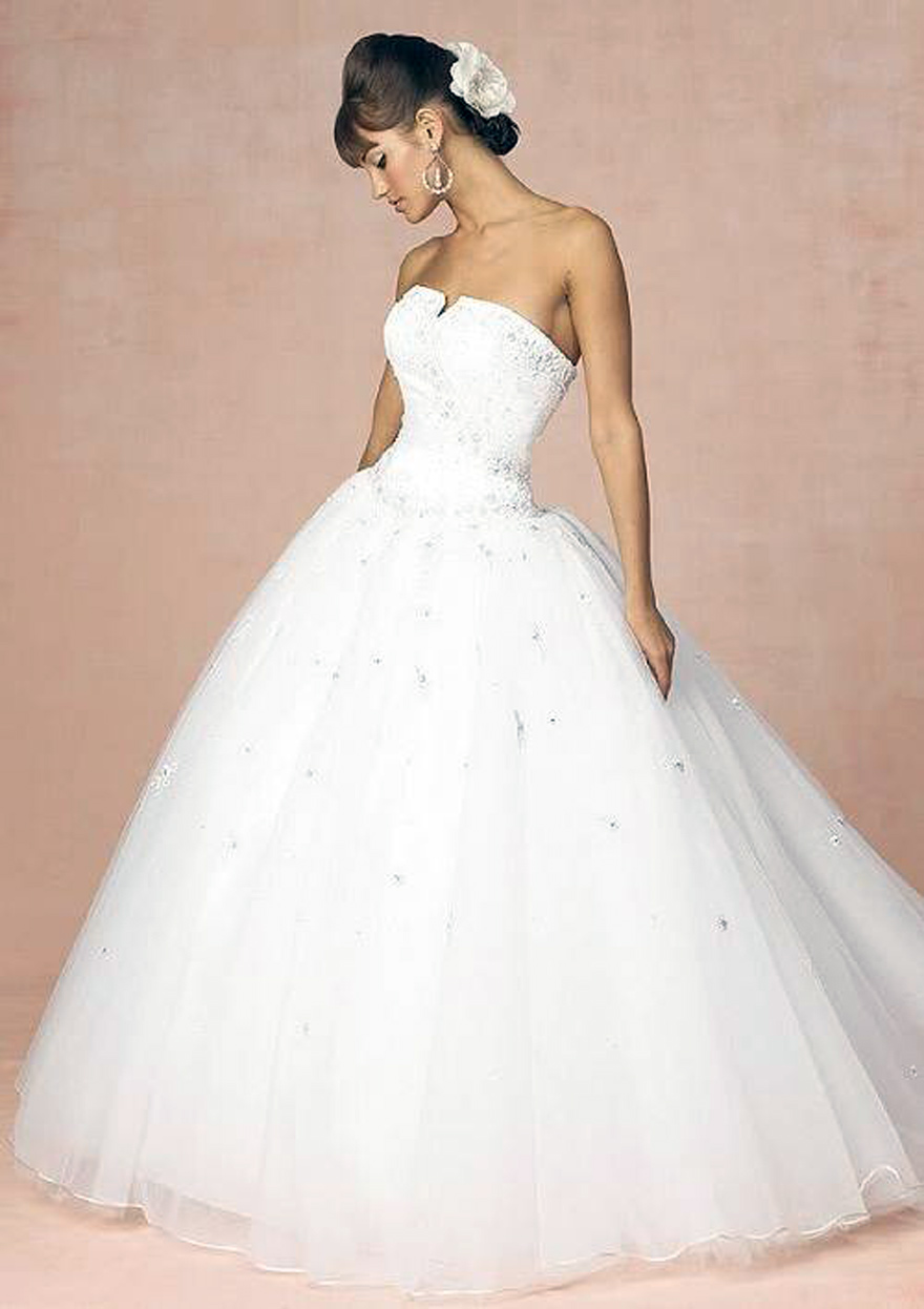 Princess Wedding Dress White - Inofashionstyle.com