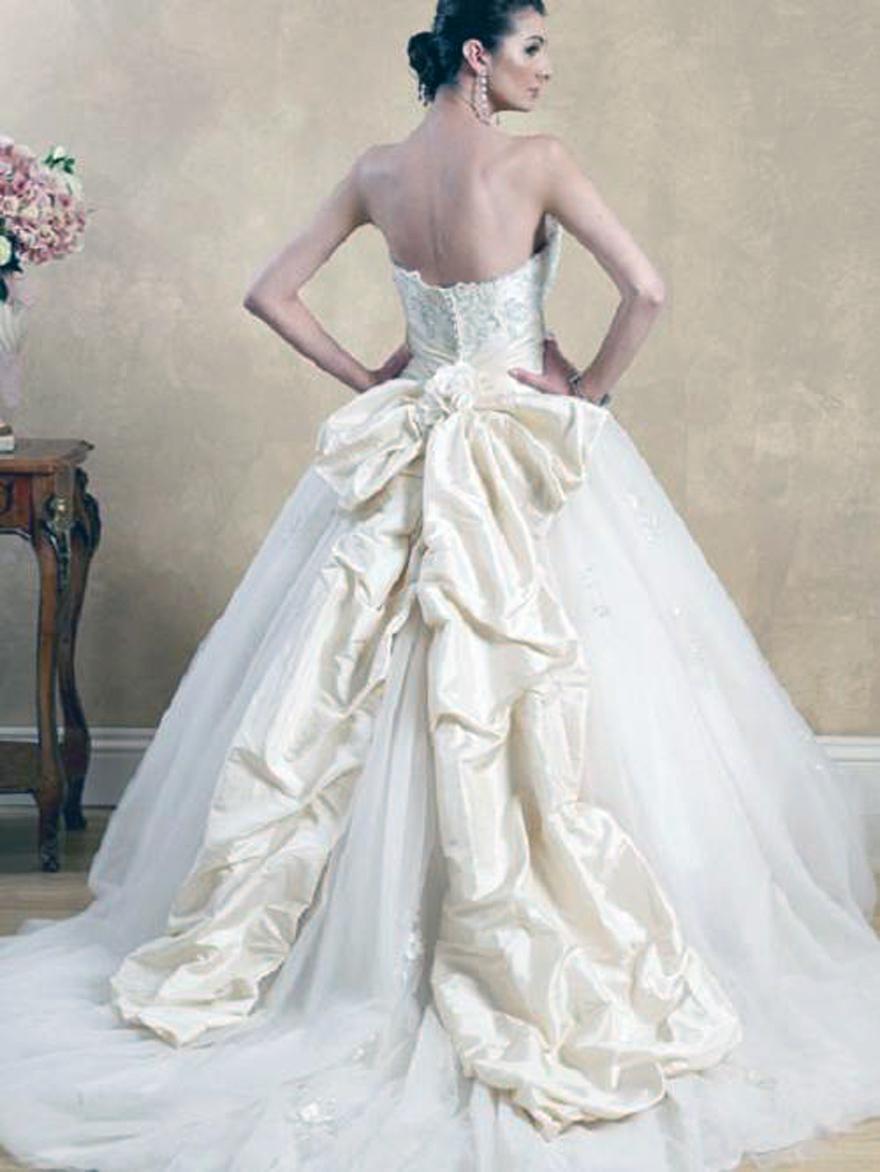 Princess Wedding Dress With Bow