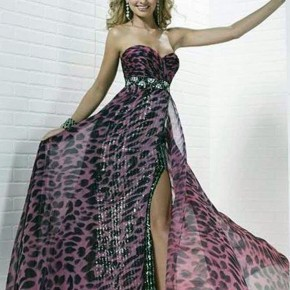 Printed Prom Dress 2013 Pictures