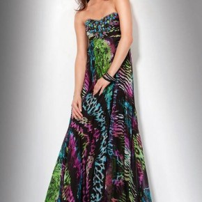 Printed Prom Dress Images Pictures