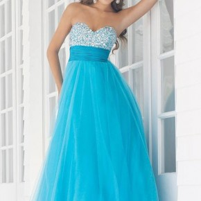 Prom Dress Blue Long Pictures
