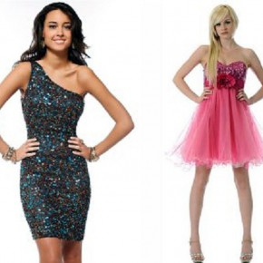 Prom Short Puffy Dresses Styles Pictures