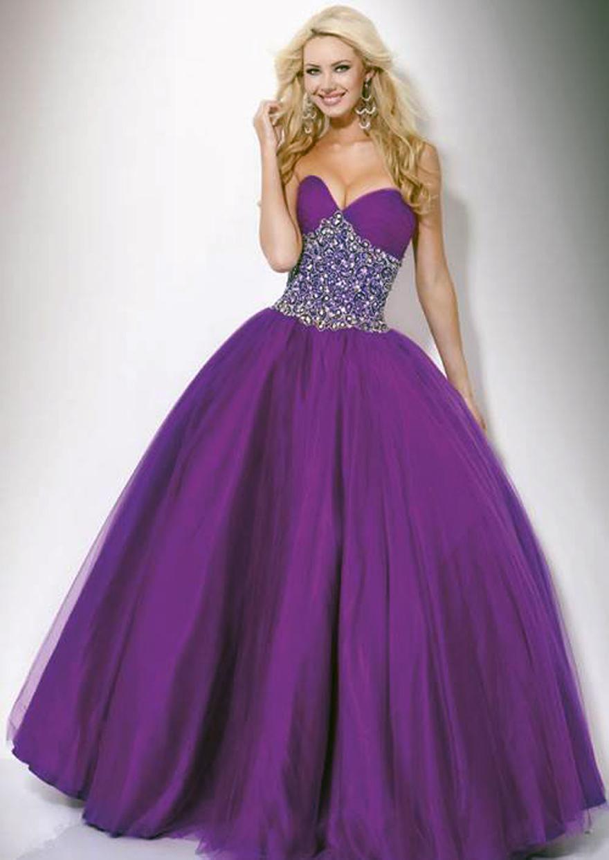 Purple Long Prom Dresses 2013