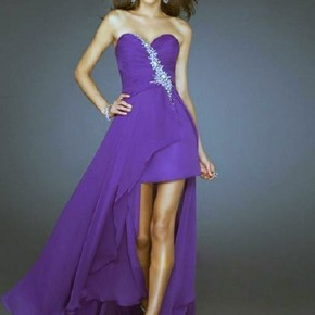 Purple Long Short Dresses Hilo Pictures