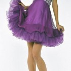 Purple Long Short Dresses Short Pictures