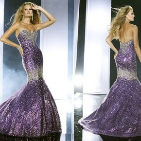 Purple Mermaid Dresses Images Pictures