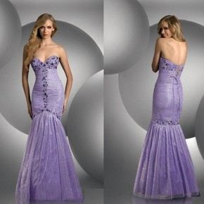 Purple Mermaid Dresses Photos Pictures