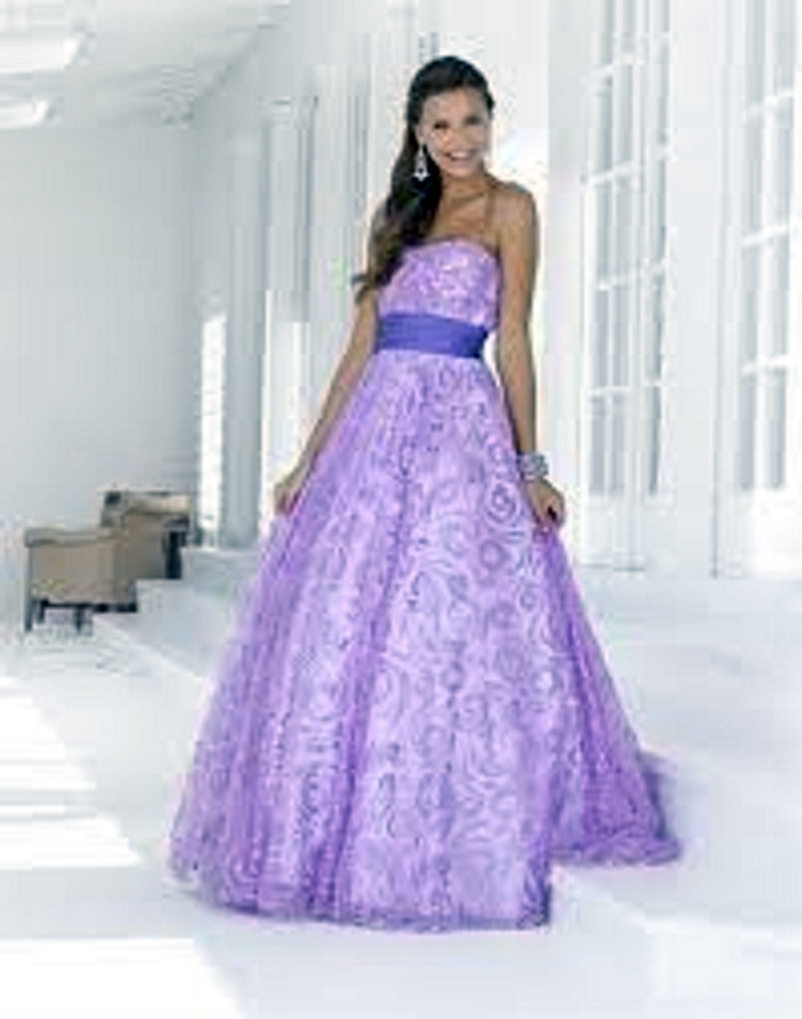 Purple Prom Dresses Images