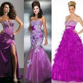 Purple Prom Dresses Long Pictures
