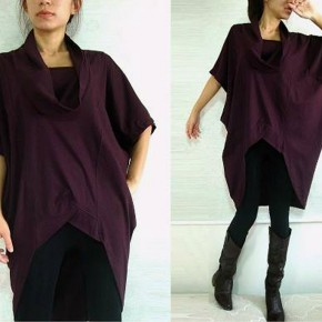 Purple Shirt Dress For Women 2013 Pictures