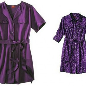 Purple Shirt Dress For Women Images Pictures