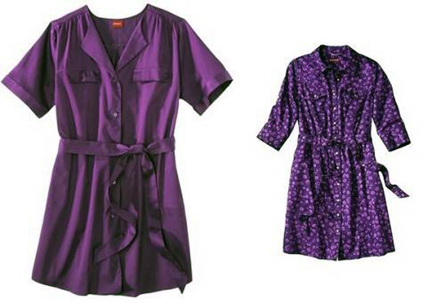 Purple Shirt Dress For Women Images