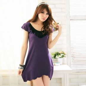 Purple Shirt Dress For Women Best Pictures