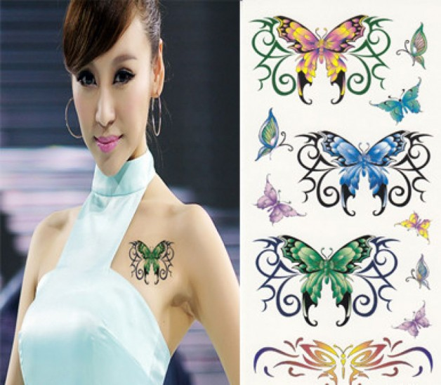 Realistic Butterfly Temporary Tattoo Designs