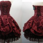 Red Corset Style Dress 2013 Pictures