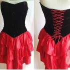 Red Corset Style Dress Black Pictures
