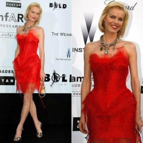 Red Corset Style Dress Short Pictures