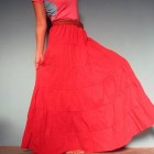 Red Maxi Skirts For Women Pictures