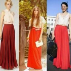 Red Maxi Skirts Images Pictures