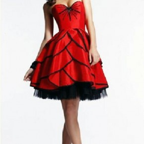 Red Puffy Prom Dresses Designs Pictures