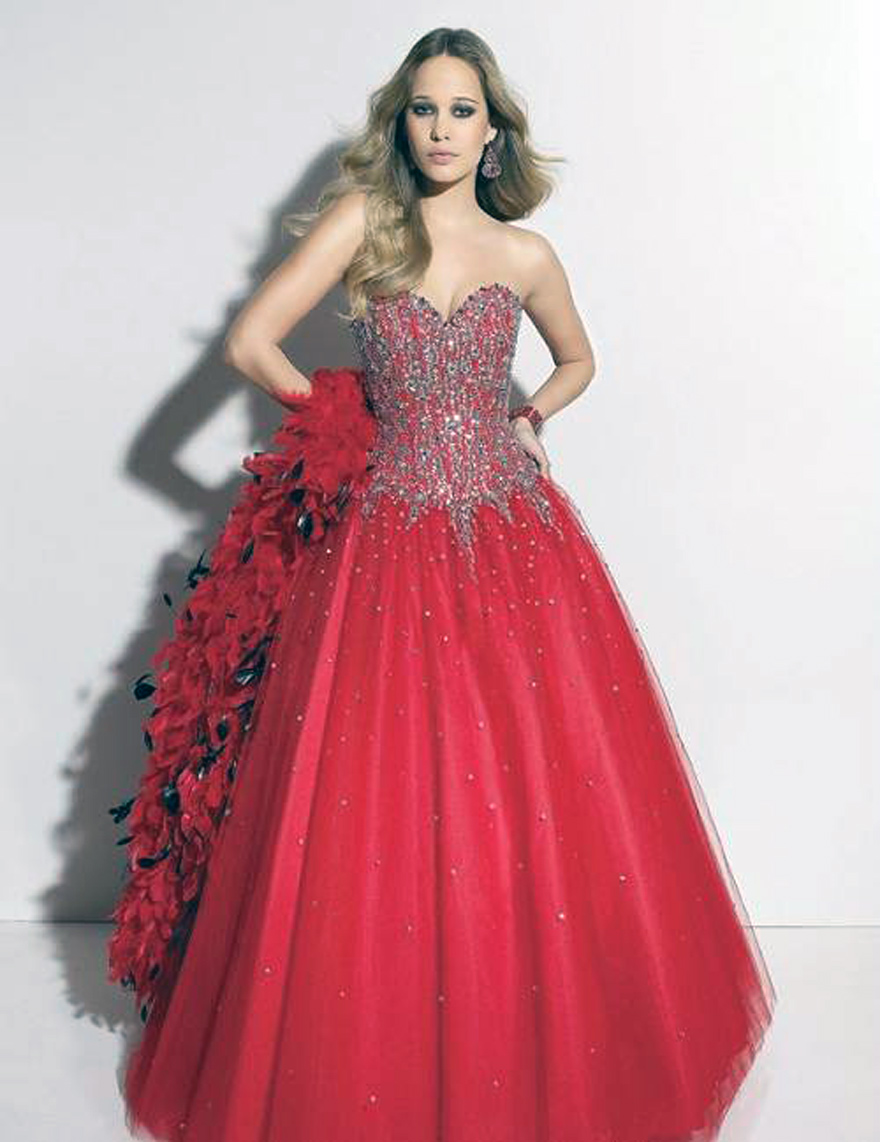 Red Puffy Prom Dresses Ideas