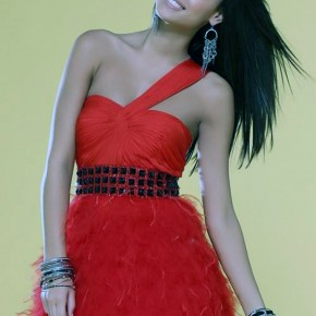 Red Puffy Prom Dresses Short Pictures