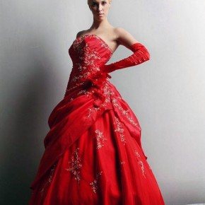 Red Puffy Prom Dresses Uk Pictures