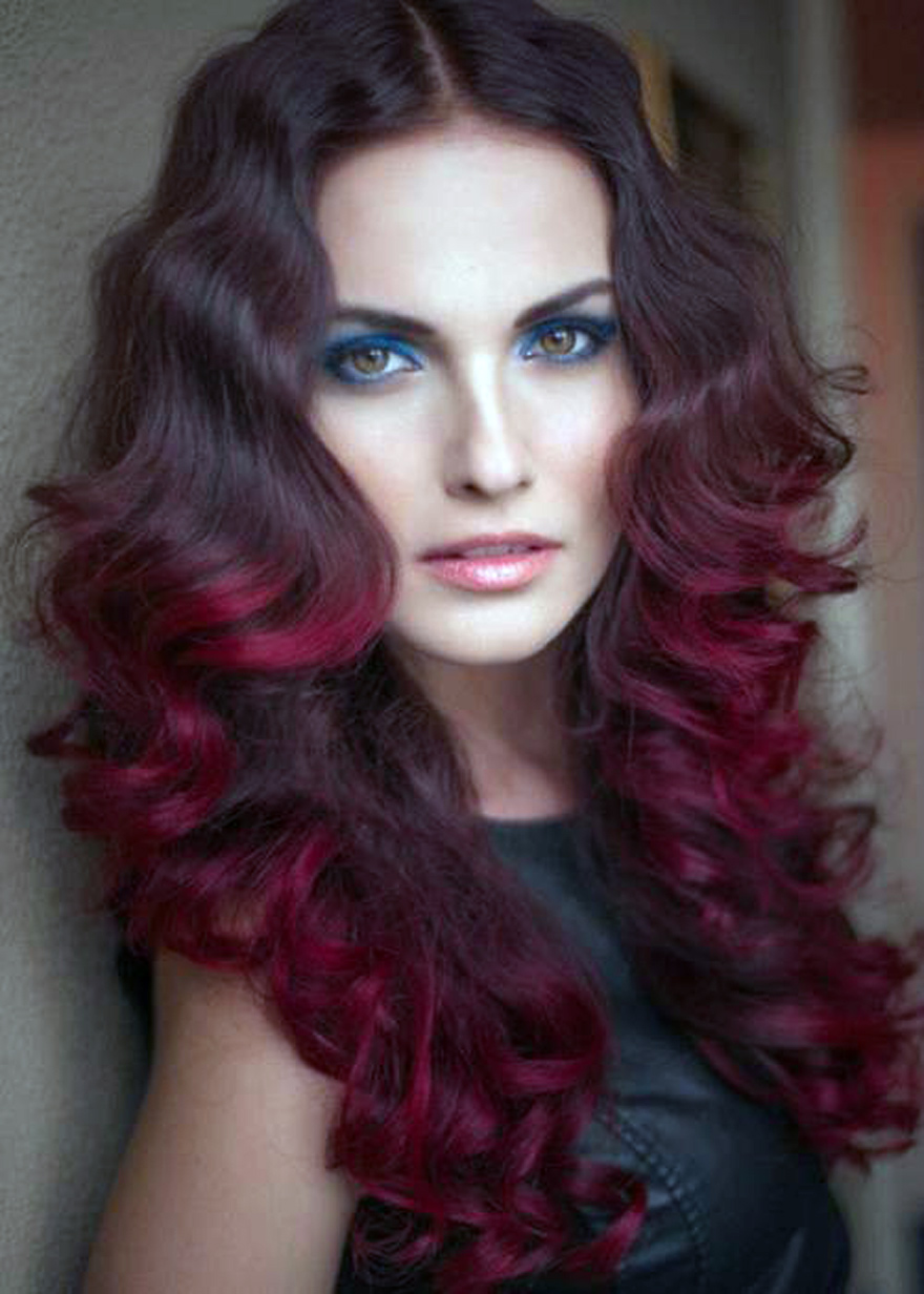 Red Violet Hair Color Ideas