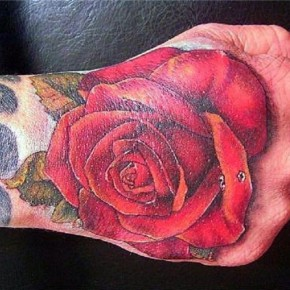 Rose Tattoo Design On Hand By Hamysart Pictures