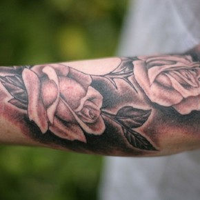 Roses Tattoos For Men On Forearm Pictures