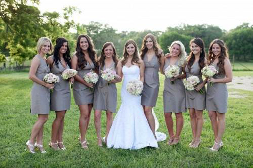 Rustic style bridesmaid dresses