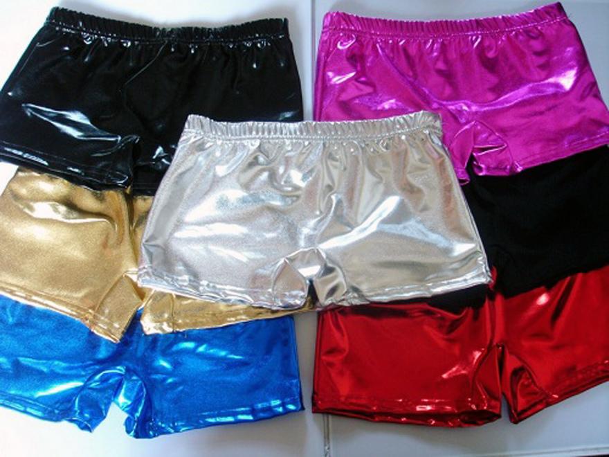 Shiny Metallic Shorts Disco