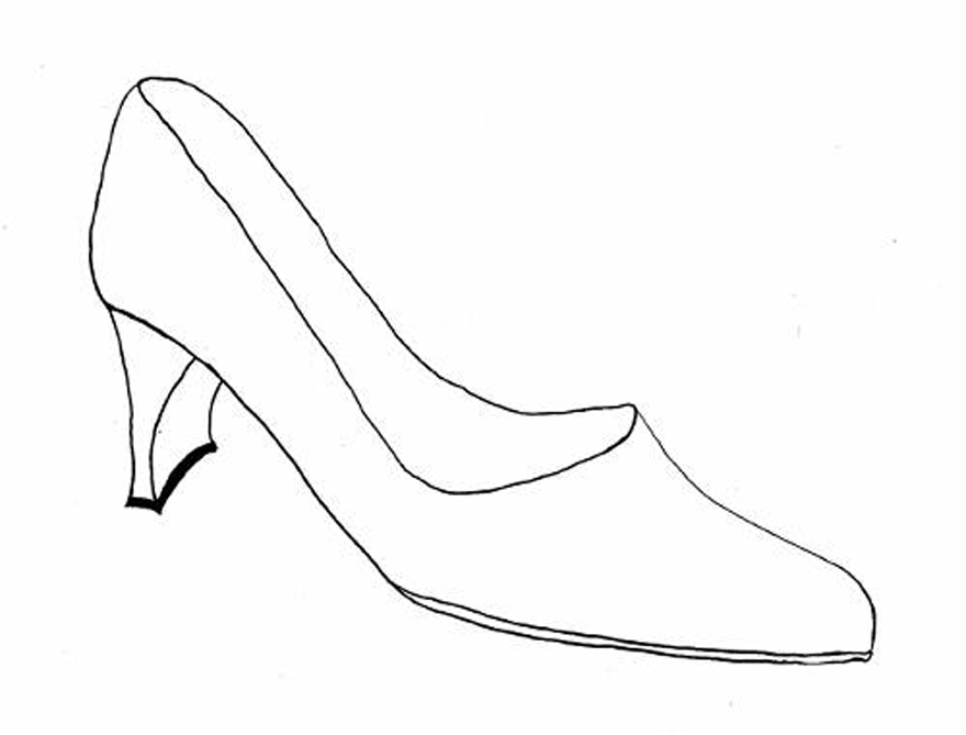 Shoes Drawing Designs Coloring Page Inofashionstyle Com