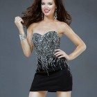 Short Black Dresses Strapless 2013 Pictures