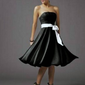 Short Black Dresses Strapless Ideas Pictures