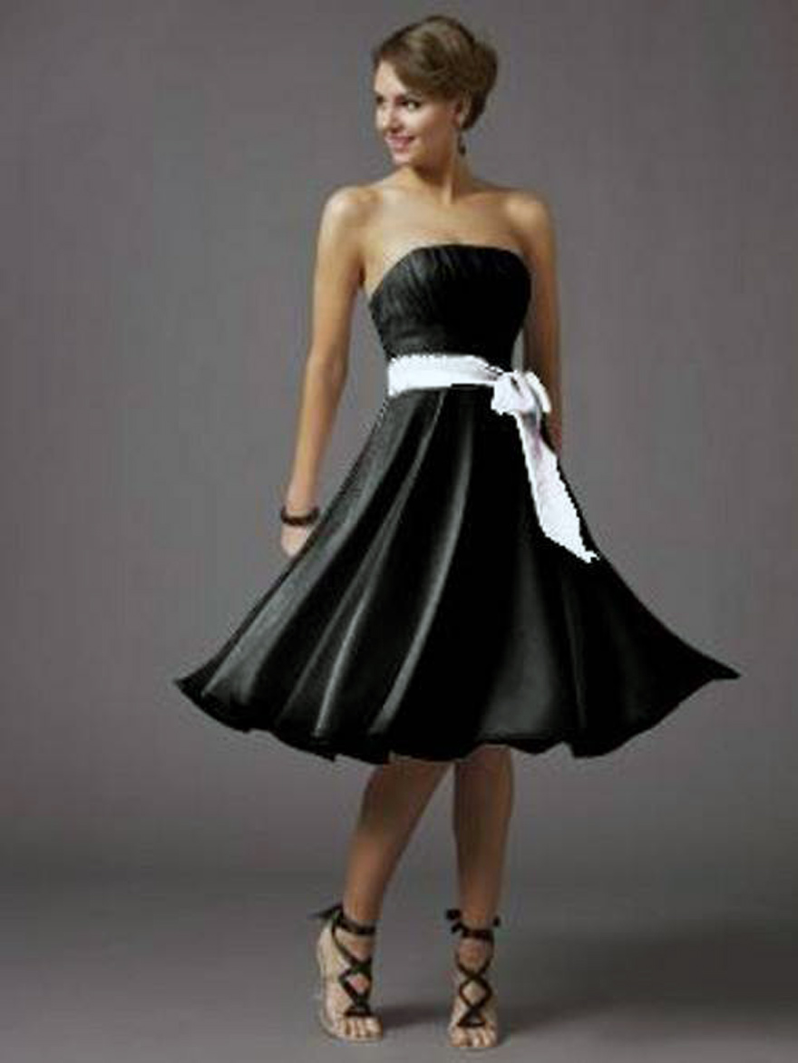 Short Black Dresses Strapless Ideas