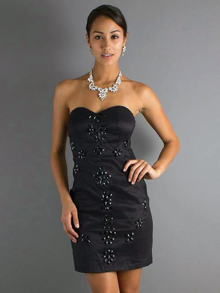 Short Black Dresses Strapless Sale