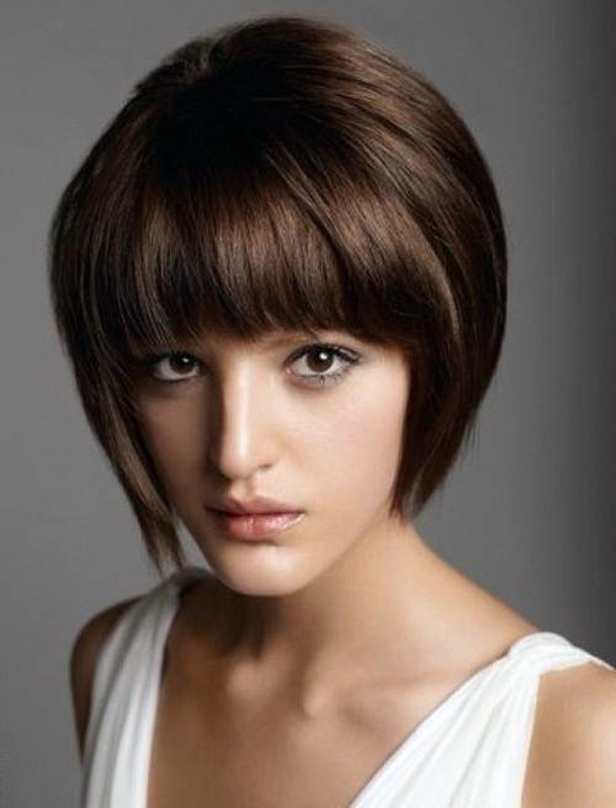 Short Bob With Bangs Hairstyles 2013