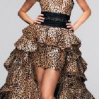 Short Formal Cheetah Dress With Tail Pictures