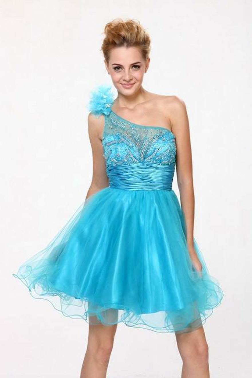 Short Gucci Prom Dresses Blue - Inofashionstyle.com