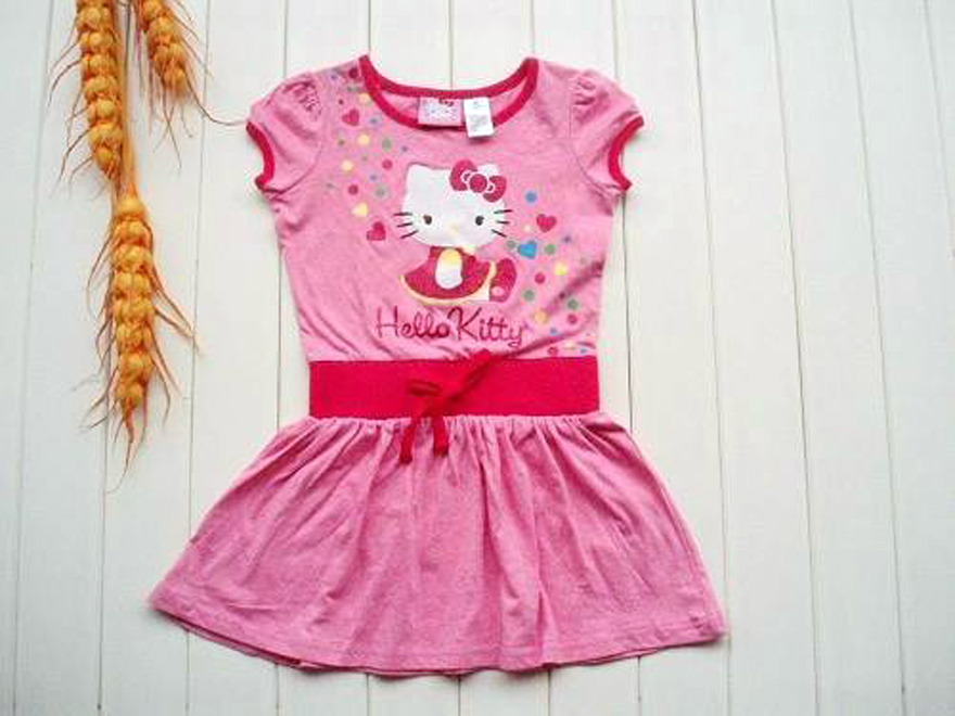Short Kids Dresses Pink