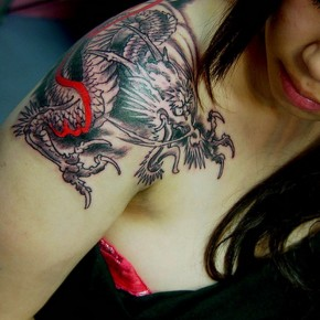 Shoulder Japanese Chest Tattoo Ideas Pictures