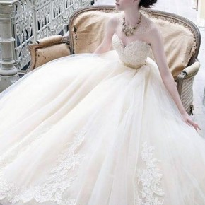 Simple Cinderella Wedding Dress 2013 Pictures